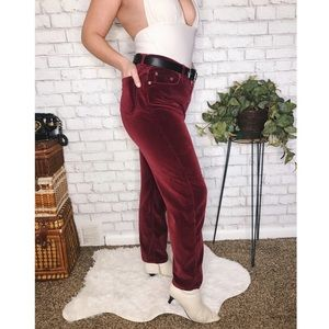 CK Jeans- High Waisted Velvet Pants